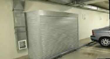 Роллетный бокс, роллетный шкаф в гараж, подземный паркинг или парковку.